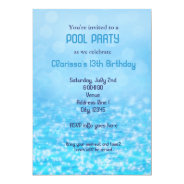 Pool Water Swim Swimming Summer Beach Party 5x7 Paper Invitation Card at Zazzle