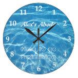 Pool Water Swimming Clear Cool Blue Aquatic Fresh Wall Clocks