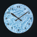 "Pool Water Wall Clock<br><div class=""desc"">Pool Water</div>"