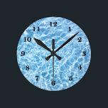 "Pool Water Wall Clock<br><div class=""desc"">Pool Water</div>"