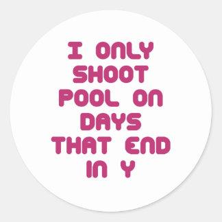 PoolChick Days Classic Round Sticker