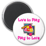 PoolChick Live To Play Fridge Magnets