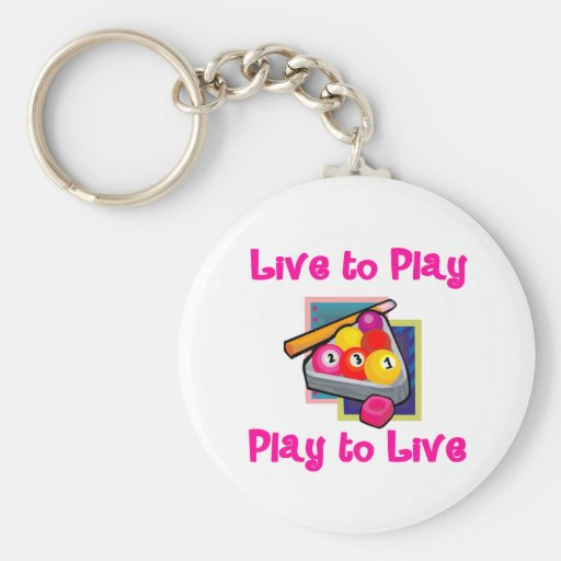 PoolChick Live To Play Keychains