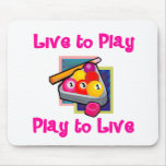 PoolChick Live To Play Mousepad