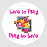 PoolChick Live To Play Sticker