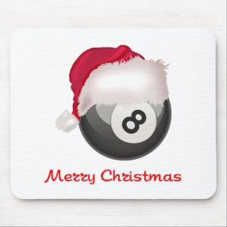 PoolChick Merry Christmas Santaball Mouse Pad