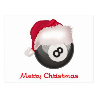 PoolChick Merry Christmas Santaball Postcard