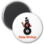 PoolChick Snowman Happy Holidays Refrigerator Magnets
