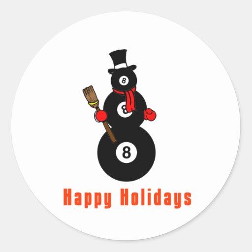 PoolChick Snowman Happy Holidays Sticker