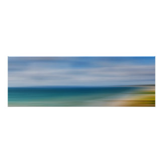 Poole Bay Panorama Abstract Poster