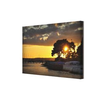 Poole sunset focus canvas print