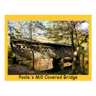 Poole's Mill Covered Bridge Postcard