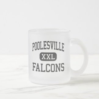 Poolesville - Falcons - High - Poolesville Frosted Glass Coffee Mug