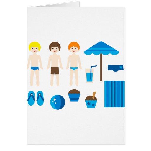 PoolPartyBoy1 Tarjeta De Felicitación