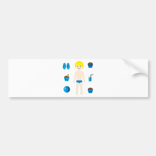PoolPartyBoy4 Bumper Sticker