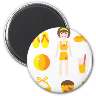 PoolPartyGirl1 Magnet
