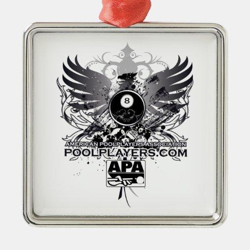 PoolPlayers.com Adorno Navideño Cuadrado De Metal