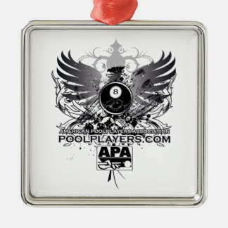 PoolPlayers.com Metal Ornament