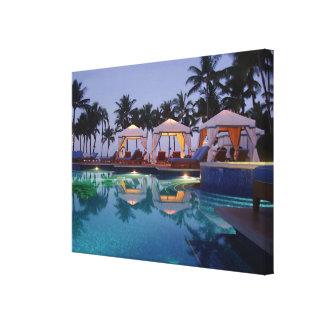 Poolside at Dawn Canvas Print