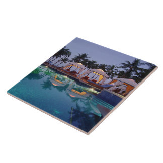 Poolside at Dawn Tile