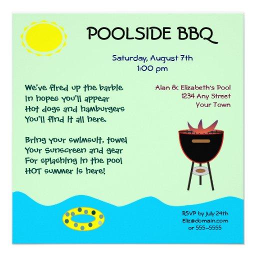 Poolside BBQ Invitations