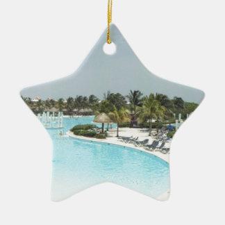 poolside adorno de cerámica en forma de estrella