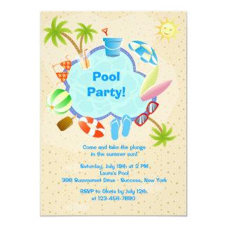 "Poolside Invitation 5"" X 7"" Invitation Card"