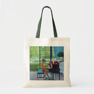 Poolside Piano Practice Budget Tote Bag