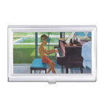 Poolside Piano Practice Business Card Holders