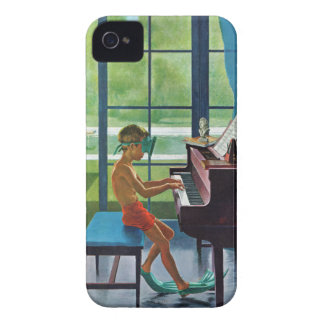 Poolside Piano Practice iPhone 4 Case-Mate Case