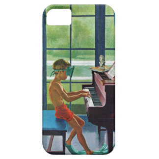 Poolside Piano Practice iPhone 5 Cover