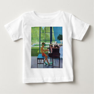 Poolside Piano Practice Infant T-shirt