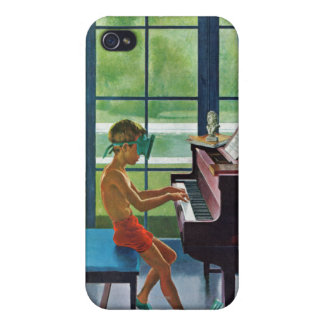Poolside Piano Practice iPhone 4 Cover
