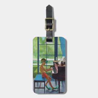 Poolside Piano Practice Travel Bag Tags