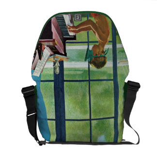 Poolside Piano Practice Courier Bags