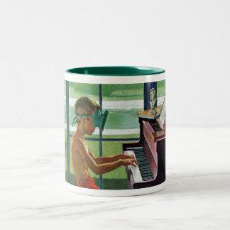 Poolside Piano Practice Mug