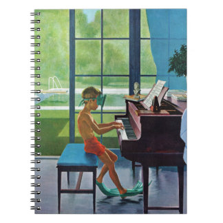 Poolside Piano Practice Spiral Notebooks