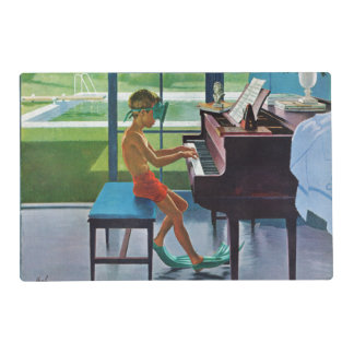 Poolside Piano Practice Placemat