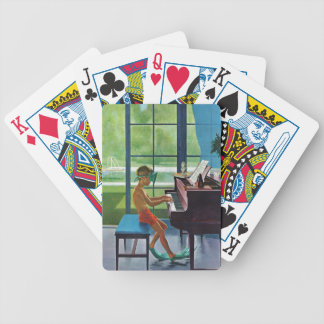 Poolside Piano Practice Bicycle Playing Cards