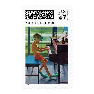 Poolside Piano Practice Postage