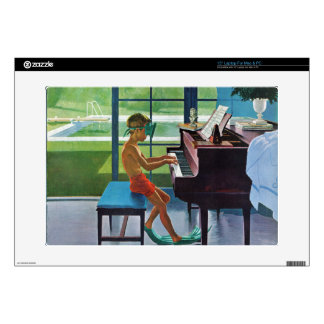 Poolside Piano Practice Skins For Laptops