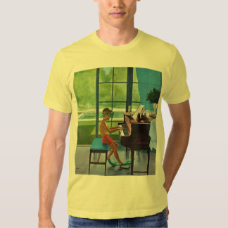 Poolside Piano Practice T Shirt