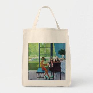 Poolside Piano Practice Tote Bag