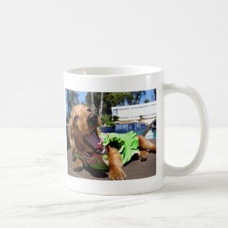 Poolside Pooch Coffee Mugs