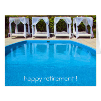 poolside retirement big card