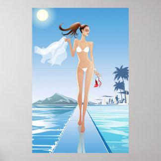 Poolside Runway Poster