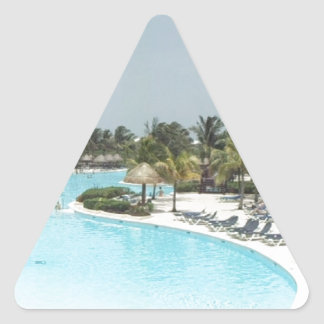poolside triangle stickers