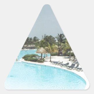 poolside triangle sticker