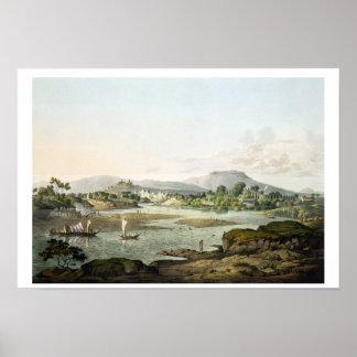 Poonah, placa XIII, grabada por Daniel Havell (178 Póster