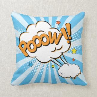 Pooow Superhero Comic Book Throw Pillow